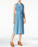 Maison Jules Denim Midi Shirtdress, Only at Macy's