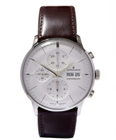 Junghans Meister Chronoscope Leather Strap Watch