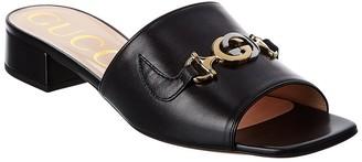 Gucci Zumi Leather Slide
