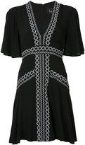 Nicole Miller short v-neck dress - women - Cotton/Polyester/Spandex/Elastane/Viscose - 4