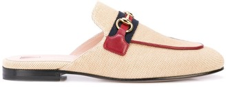 Gucci Women's Princetown canvas slippers