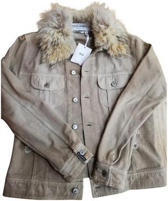 Dolce & Gabbana Camel Denim - Jeans Jacket for Women Vintage