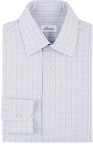 Brioni Men's Checked Dress Shirt-GREY