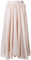 Forte Forte pleated skirt - women - Silk/Cotton - II