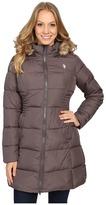 U.S. Polo Assn. Fur Hooded Long Puffer Jacket