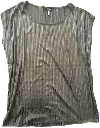 Armani Jeans Khaki Glitter Top for Women