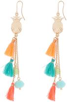Accessorize Pineapple Tassel Pom Drop Earrings