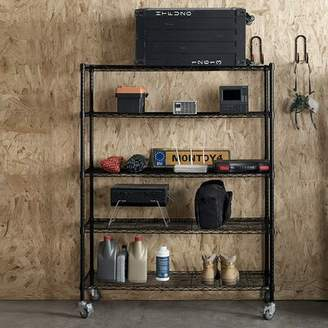 WFX Utility Shelf Supreme 5 Shelf Rack With Caster Wheels WFX Utility
