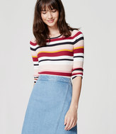 LOFT Petite Blockstripe Ribbed Sweater