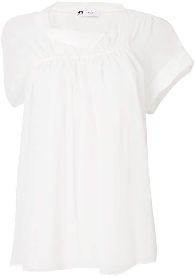 Lanvin ruched blouse
