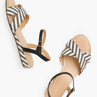 Talbots Daisy Micro Wedge Sandals - Stripe