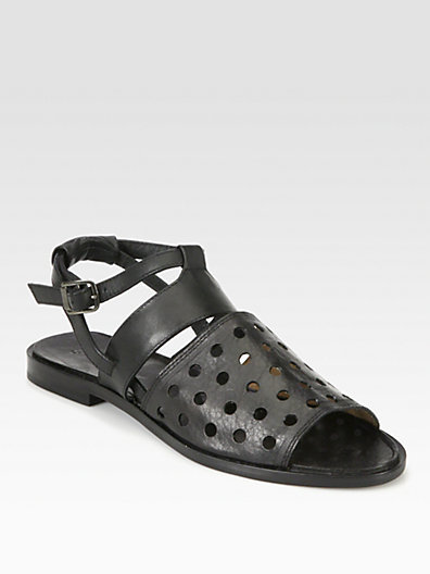 Rachel Comey Anchor Perforated Leather Sandals