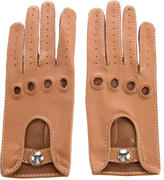 Hermes Perforated Lambskin Gloves