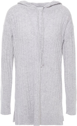 3.1 Phillip Lim Ribbed Cashmere Hooded Sweater