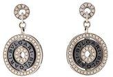 Bvlgari 18K Diamond & Ceramic Cerchi Astrale Earrings