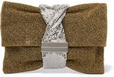 Jimmy Choo Chandra Chainmail-paneled Lurex Shoulder Bag - Gold