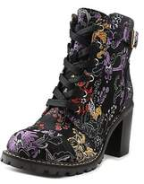 Diba Carryn A5033-6 Women Round Toe Canvas Multi Color Ankle Boot.