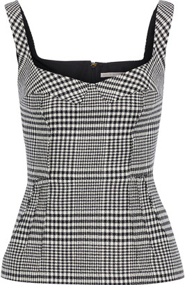 Emilia Wickstead Judy Prince Of Wales Checked Wool-blend Top
