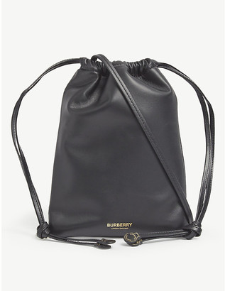 Burberry Logo-print leather cross-body bag