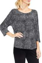 Vince Camuto Dotted 3/4 Sleeve Blouse