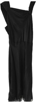 Carine Gilson Black Silk Dresses
