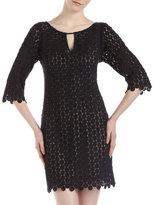 Yoana Baraschi Lace Dot Tunic Dress, Black