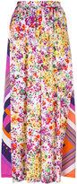 Roseanna clashing print skirt