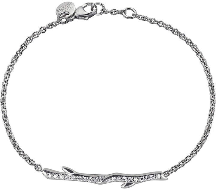 Shaun Leane Sterling silver and diamond Cherry Branch bracelet