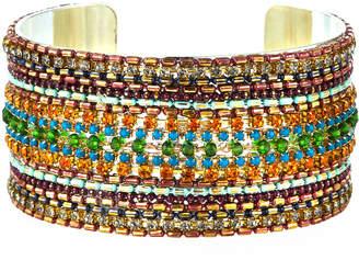 Nakamol Large Layered Bead Cuff Bracelet