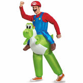 Asstd National Brand Super Mario Bros Mario Riding Yoshi 2-pc. Super Mario Dress Up Costume