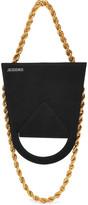 Jacquemus Upside Down Chain-trimmed Suede Shoulder Bag - Black