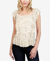 Lucky Brand Printed Ruffled Top
