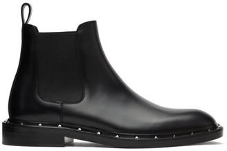 Valentino Black Garavani Rockstud Beatle Chelsea Boots