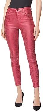 J Brand Alana Skinny Ankle Jeans in Opium Jagged Python