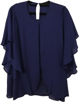 Elie Saab Blue Silk Top for Women