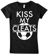 Micro Me Black 'Kiss My Cleats' Tee - Infant Toddler & Girls