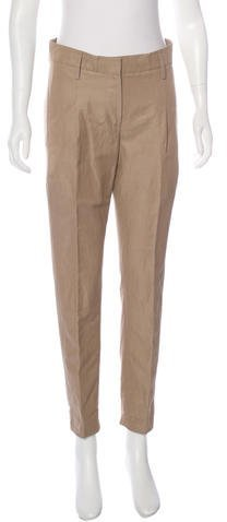 Brunello Cucinelli Cropped Straight-Leg Pants