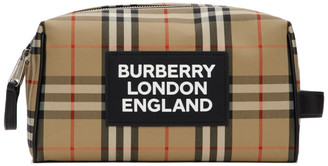 Burberry Beige Vintage Check Hart Pouch