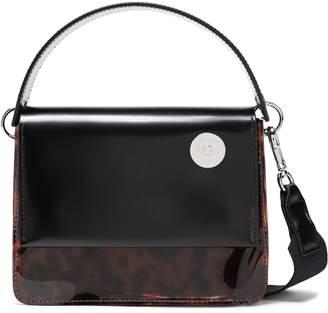Kara Leather And Tortoiseshell Pvc Shoulder Bag
