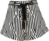 Self-Portrait Self Portrait Drawstring Striped Shorts