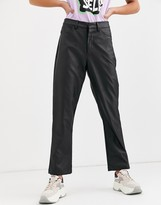 Daisy Street straight leg pants in faux leather