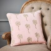 Graham and Green Palmier Rose Velvet Cushion