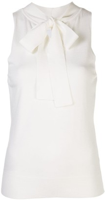 Milly tie-neck top