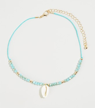 New Look 3 Pack Turquoise Shell Beaded Choker Necklaces