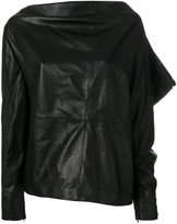 Tom Ford asymmetric draped top