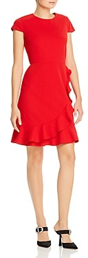 Karl Lagerfeld Paris Short-Sleeve Ruffle Hem Dress