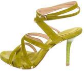 Donna Karan Suede Multistrap Sandals
