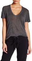 Young Fabulous & Broke V-Neck Short Sleeve Linen Tee