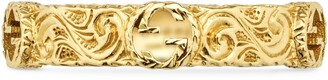 Gucci Yellow gold ring with InterlockingG
