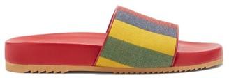 Gucci Baiadera Striped Linen-canvas Slides - Multi
